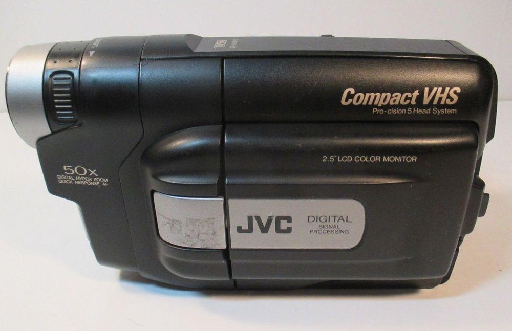 Jvc Compact Vhs Camcorder Gr Axm210 50x Zoom 2 5 Screen Camera Only Jvc Jvc Camcorder Ebay
