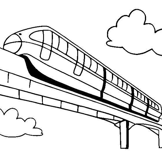 Modern Train Speeding Coloring Pages For Kids Es Printable Trains Coloring Pages For Kids Gambar Anak Melatih
