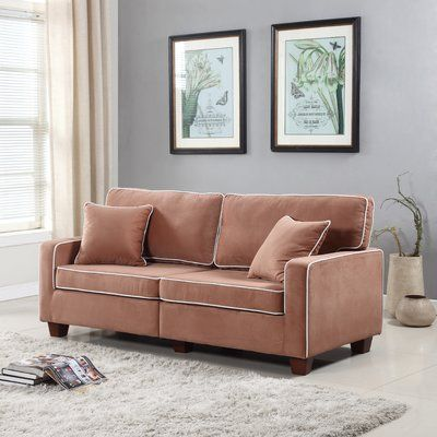 Ebern Designs Two Tone Loveseat Living Room Furniture Sale Cool