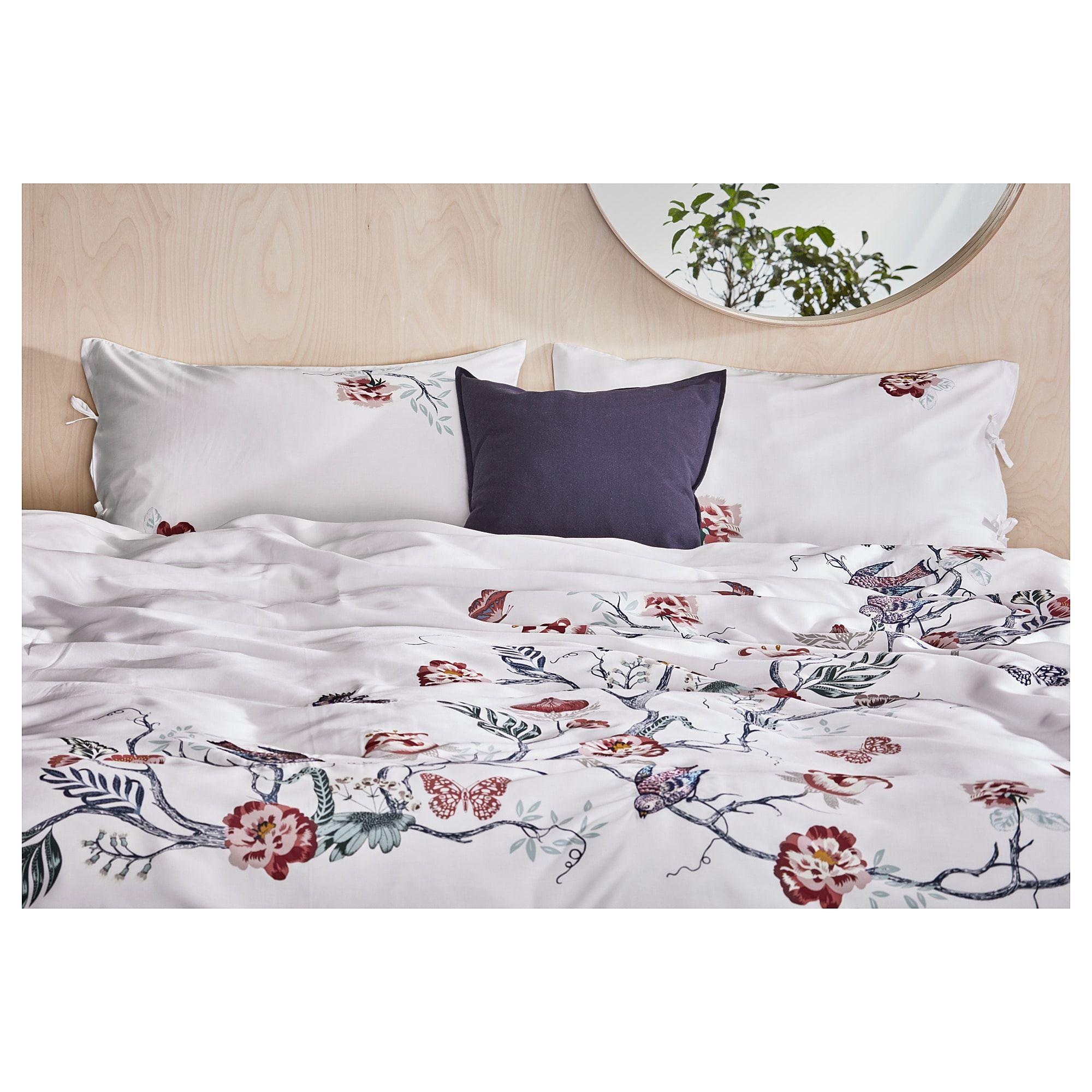 Jattelilja Duvet Cover And Pillowcase S White Floral Patterned