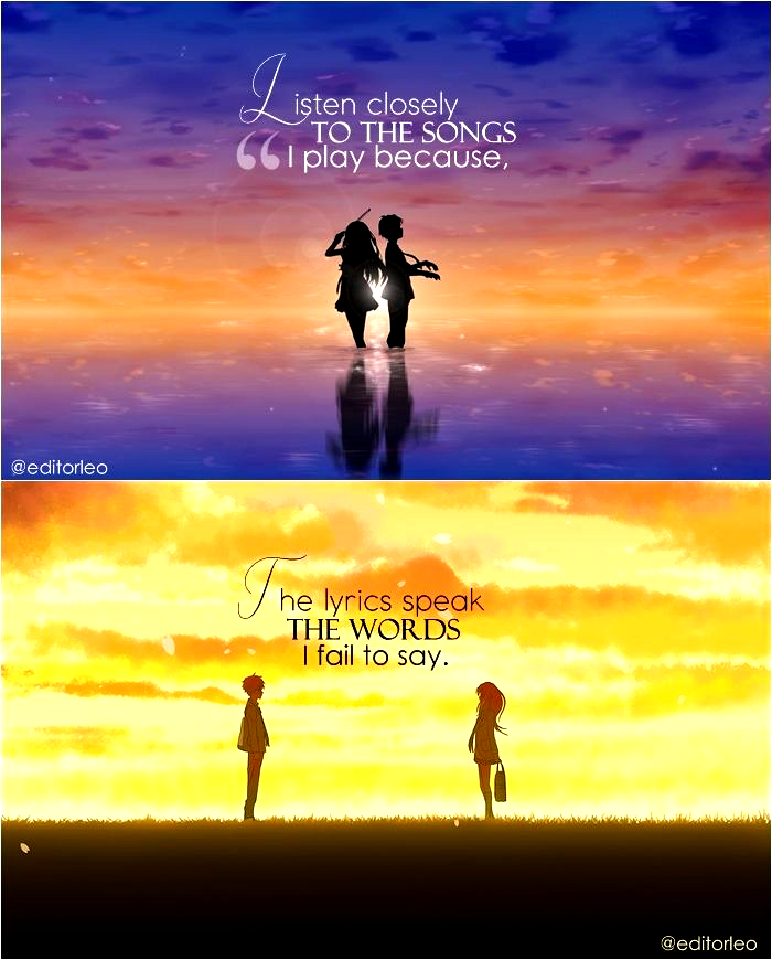 Anime : Your Lie In April Music Quotes  Deep Quotes | music