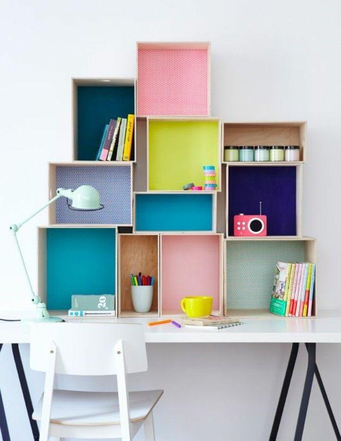 120 id es pour la chambre d ado unique espace etudiant ado fille et rangement mural. Black Bedroom Furniture Sets. Home Design Ideas