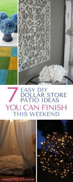 7 Easy DIY Dollar Store Patio Ideas You Can Finish This Weekend