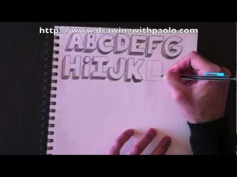 Dessiner L Alphabet 3d Avec Paolo Morrone Youtube Alphabet 3d