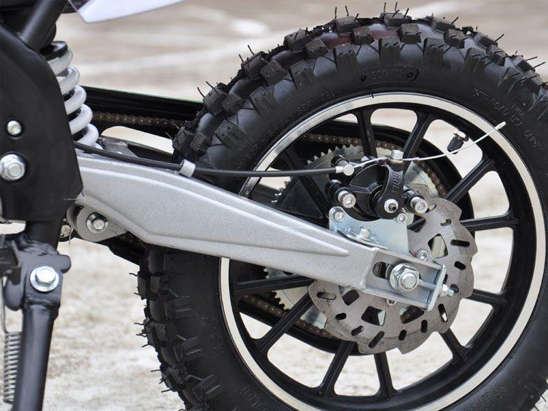 MotoTec 24v Electric Dirt Bike 500w (Orange) - Battery Powered Ride On Toy Motorcycle