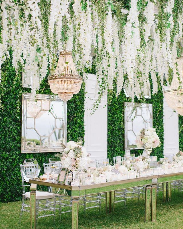 20 Amazing Hanging Greenery Floral Wedding Decorations For: This Great Idea Was Featured Today At DailyGreet.com