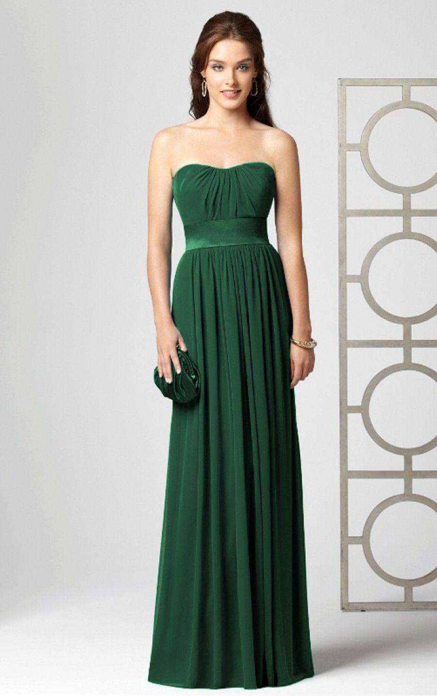 Dark Green Sheath Floor Length Strapless Dress Dresses 10120 191 00