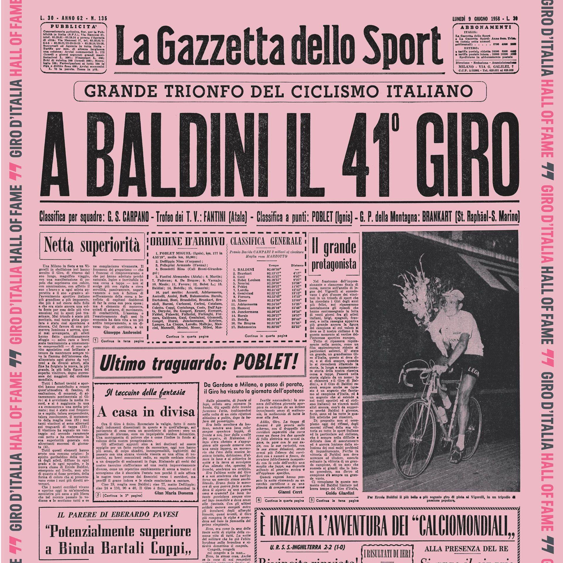 Image result for Gazzetta dello Sport printed on pink