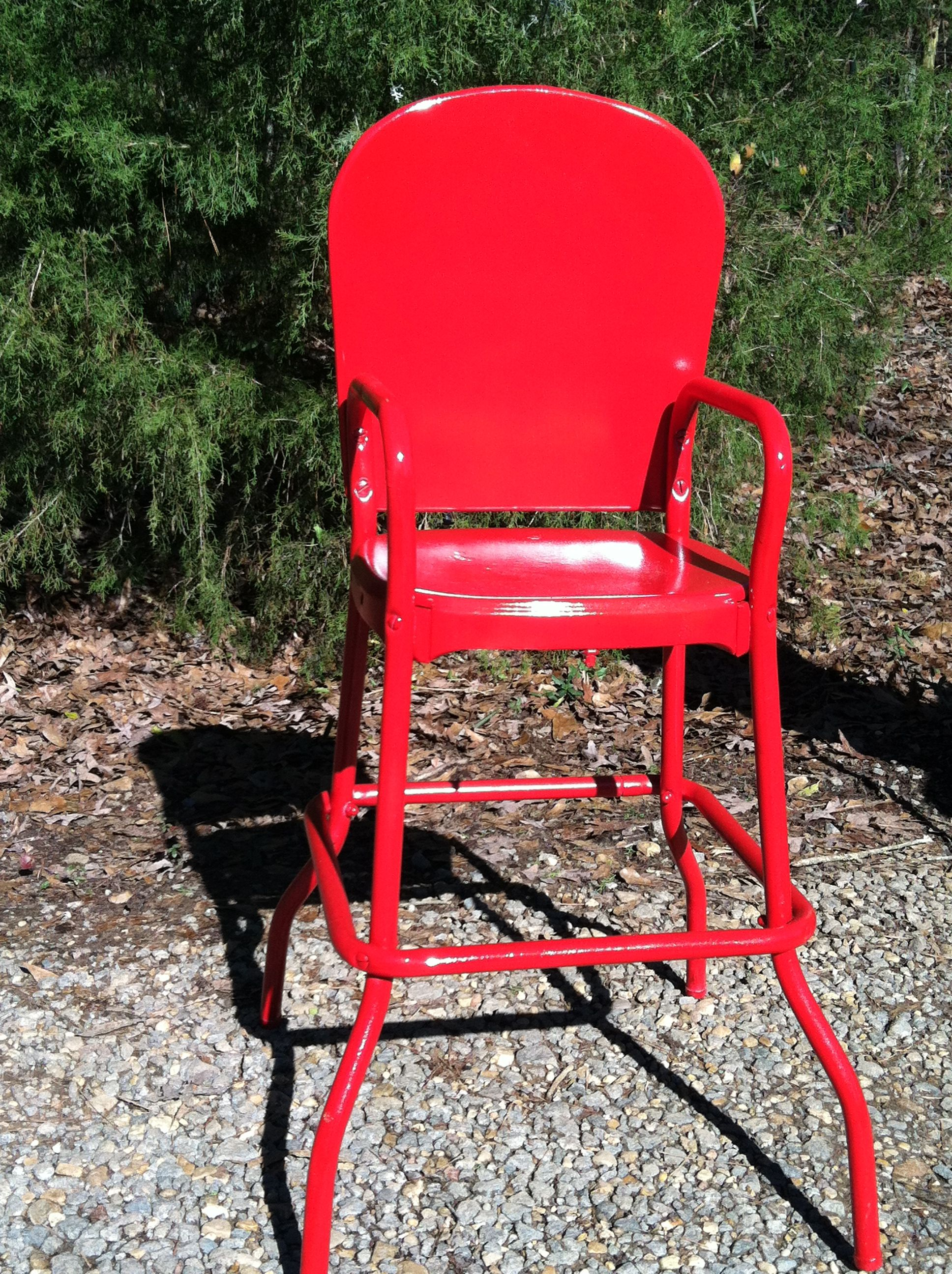 Red Metal High Chair