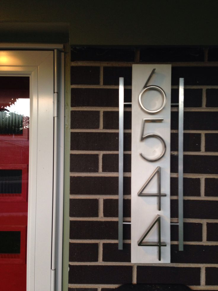 Fantastic Modern House Number Plate Especially Luxurious Modern