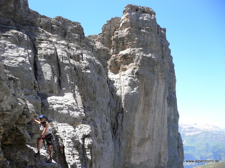 Klettersteig Eiger : Rotstock klettersteig eiger krawwelle mountains