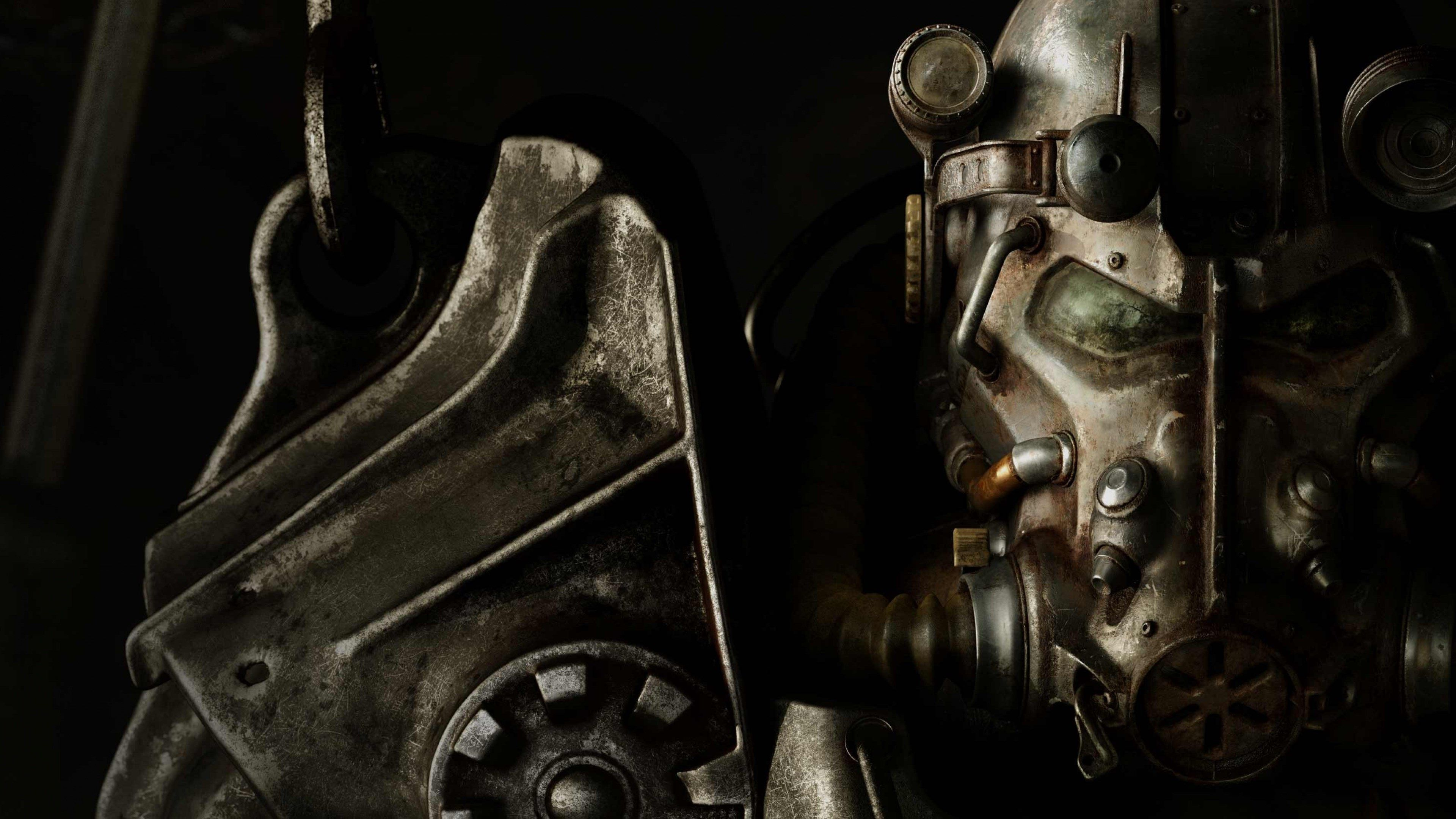 3840x2160 Fallout 4 4k Computer Backgrounds Wallpaper Fallout Wallpaper Power Armor Armor Games