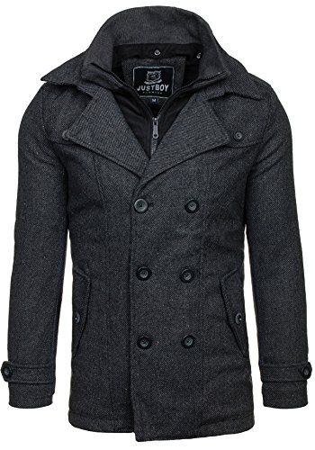 JUST BOY M003 Dunkelgrau XL  4D4  Herren Mantel Jacke Winterjacke  Wärmemantel Herrenmantel Warm - 1 5483e35697