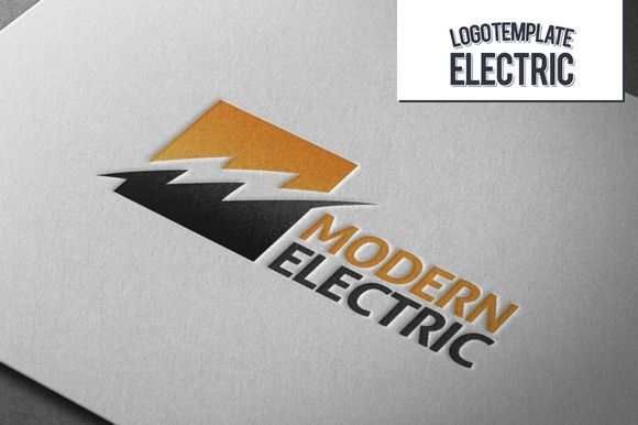 Modern electric logo logos business cards and logo templates modern electric logo colourmoves
