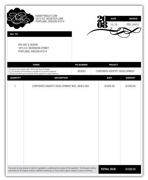 great invoice design template invoice design template. Black Bedroom Furniture Sets. Home Design Ideas
