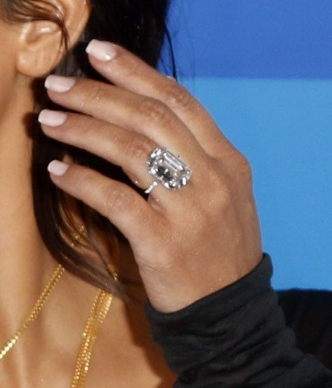 527bf8f17 Kim Kardashian Has a New Ring That Looks Exactly Like Her Engagement Ring  via  WhoWhatWear