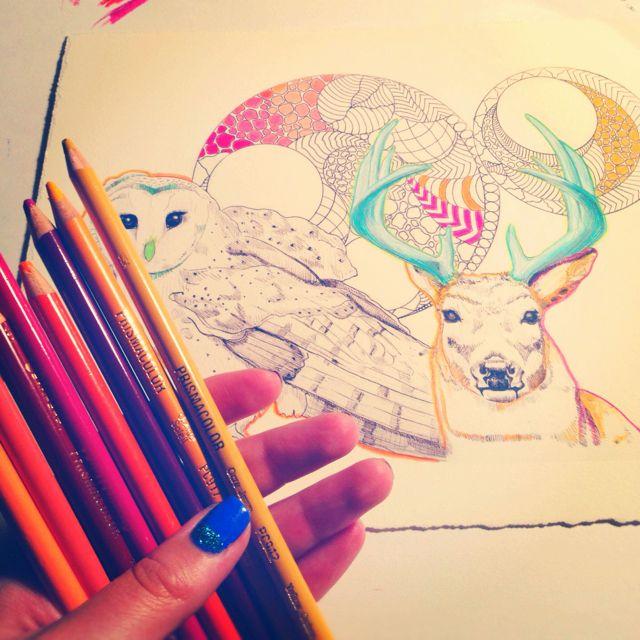 Colouring prints. stacymariestudios.com   Art   Pinterest   Prints