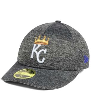 super popular da132 9fb48 New Era Kansas City Royals Shadowed Low Profile 59FIFTY Cap - Gray 7 1 8