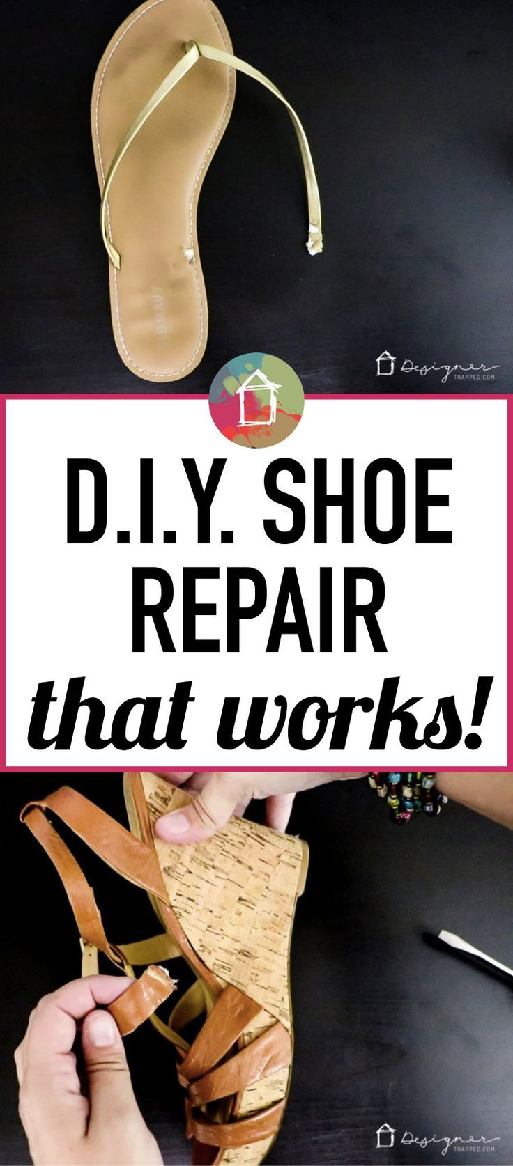 a7dcd95affb2 Do you have a bunch of cute sandals and shoes with broken straps  It seems  to happen to me ALL the time and always out in public. Now I have a DIY ...