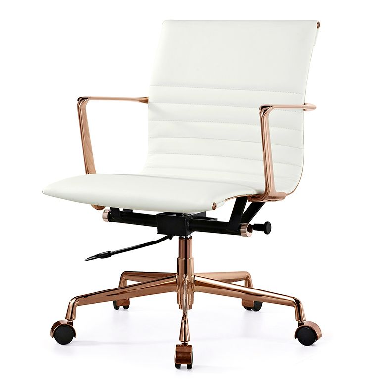 white modern office chair white rolling. Alston Office Chair Luxe White Italian Leather Modern Rolling L