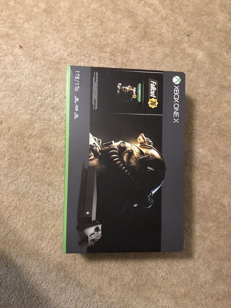 BRAND N EW Xbox One X 1TB Console - Fallout 76 Bundle 4K