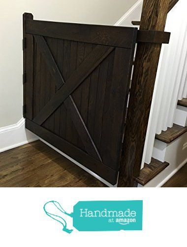Barn Door Style Solid Oak Baby Gate or Pet Gate Made with Reclaimed Barn Wood!!! Now thats a Baby Gate!
