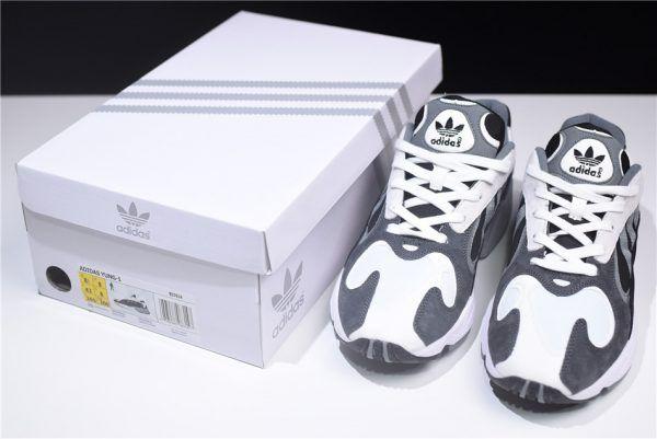 Discount adidas Originals YUNG-1 Grey White Black Dad Shoes B37614 For Sale -4 f96a0ffe5