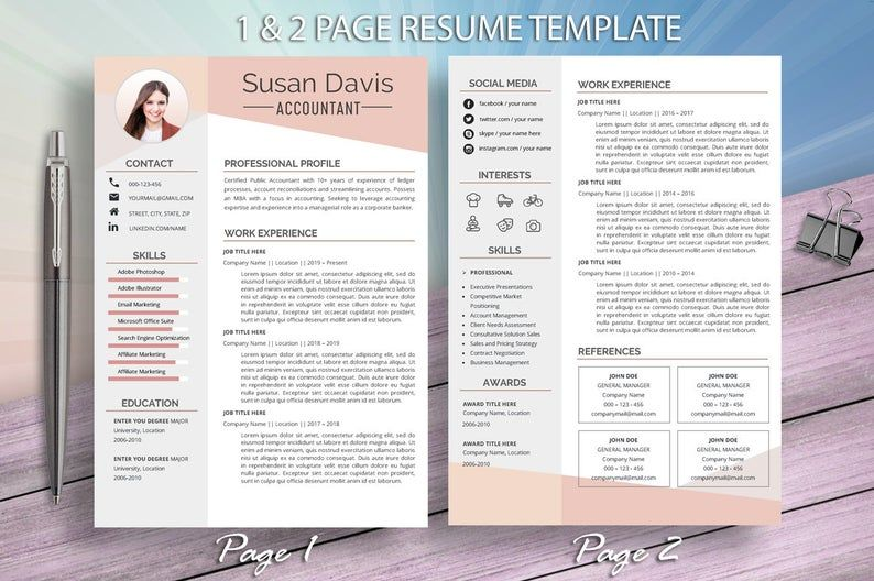 Accountant resume template for word executive manager
