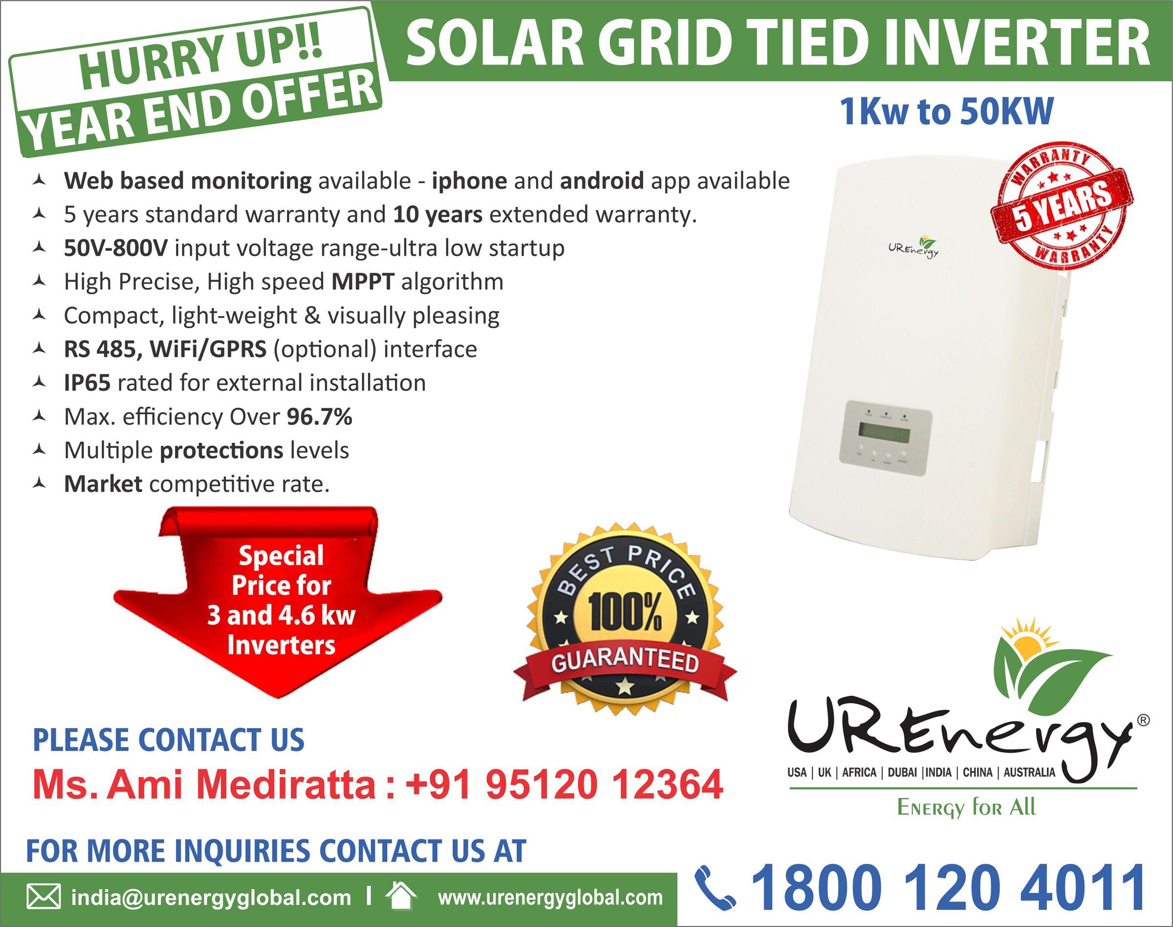 Single And Three Phase Solar Inverters Solar Panel Micro Inverters U R Energy Solar Inverter Solar Solar Panels