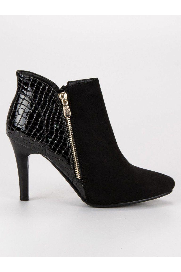 Čierne topánky na podpätku CnB  46506210cd1
