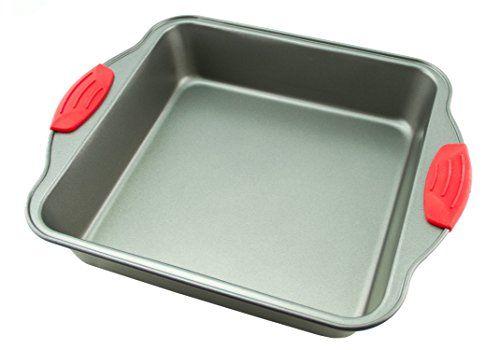 Cake Pan Non Stick Steel 8 Inch Square Baking Pan By Boxiki