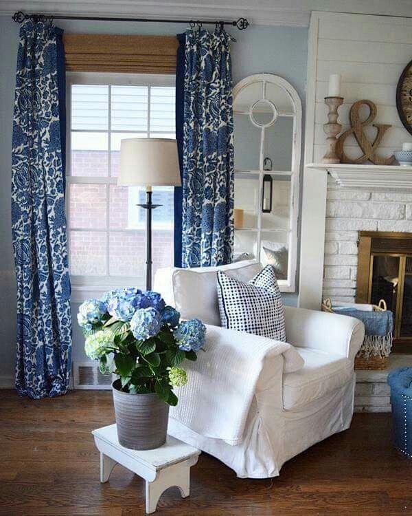Pin de Elida Coceres en Laura Ashley Pinterest Decoración chic - cortinas azules