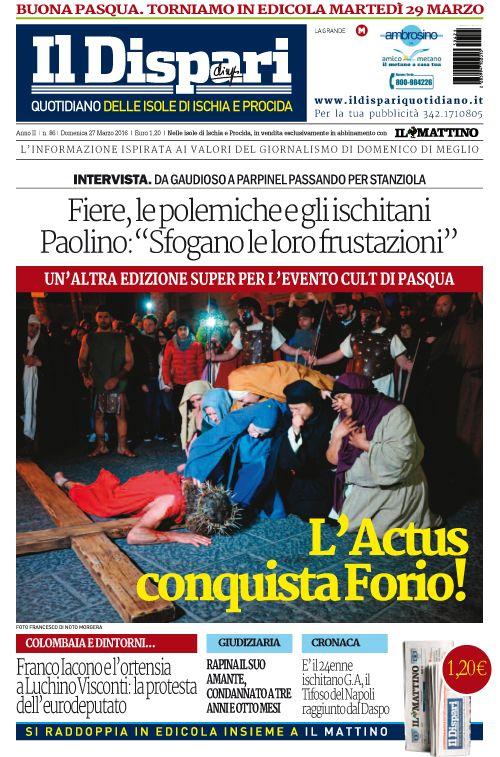 La copertina del 27 marzo 2016 #ischia #ildispari