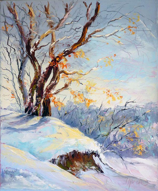 peinture a l huile au couteau paysage