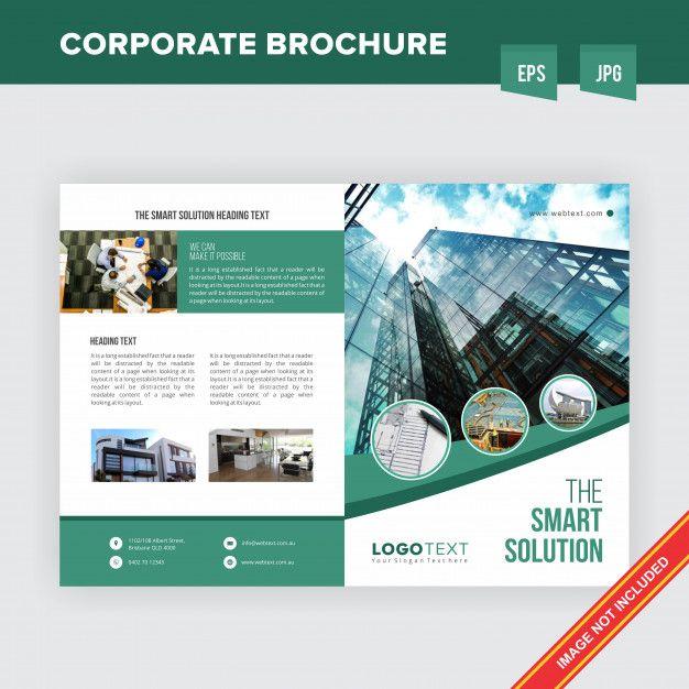 Plantilla de folleto  corporación de bi  Premium Vector