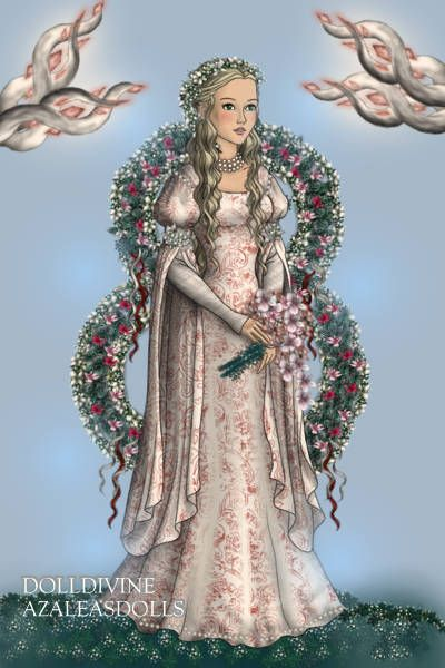 The Faith of the Seven: The Maiden ~ by rinxja ~ created using the LotR Hobbit doll maker | DollDivine.com
