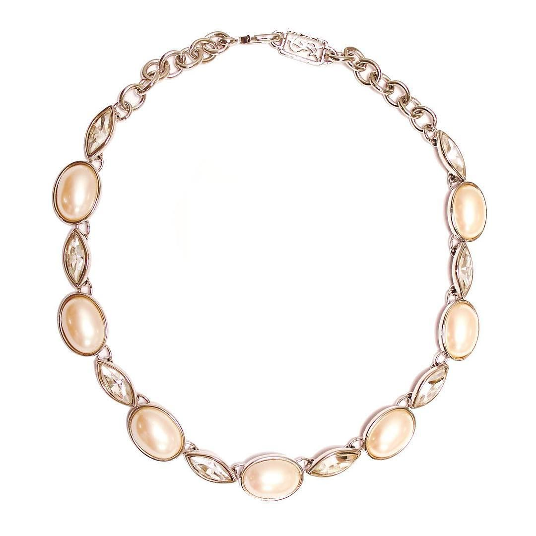 Shine on your big day in vintage ysl with this stunning necklace