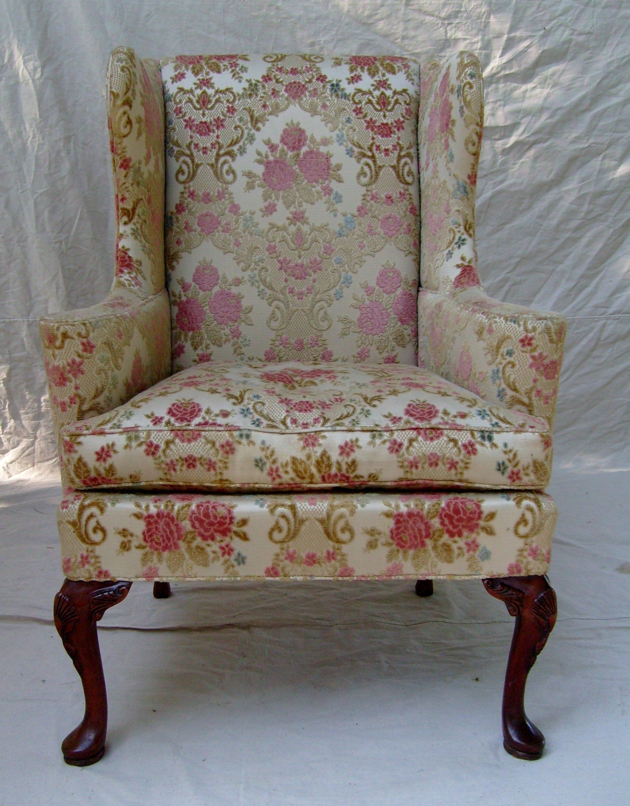 Fantastic Vintage English Cottage Style Wingback Chair By Hickory Home Interior And Landscaping Oversignezvosmurscom