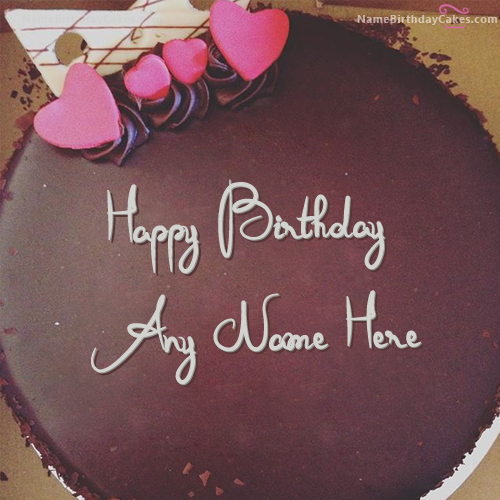 Amazing Chocolate Birthday Cake For Lover With Name Friends Card