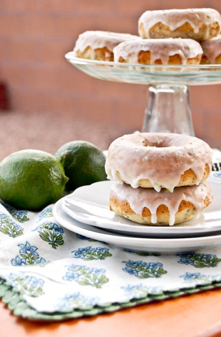 lime poppyseed donuts