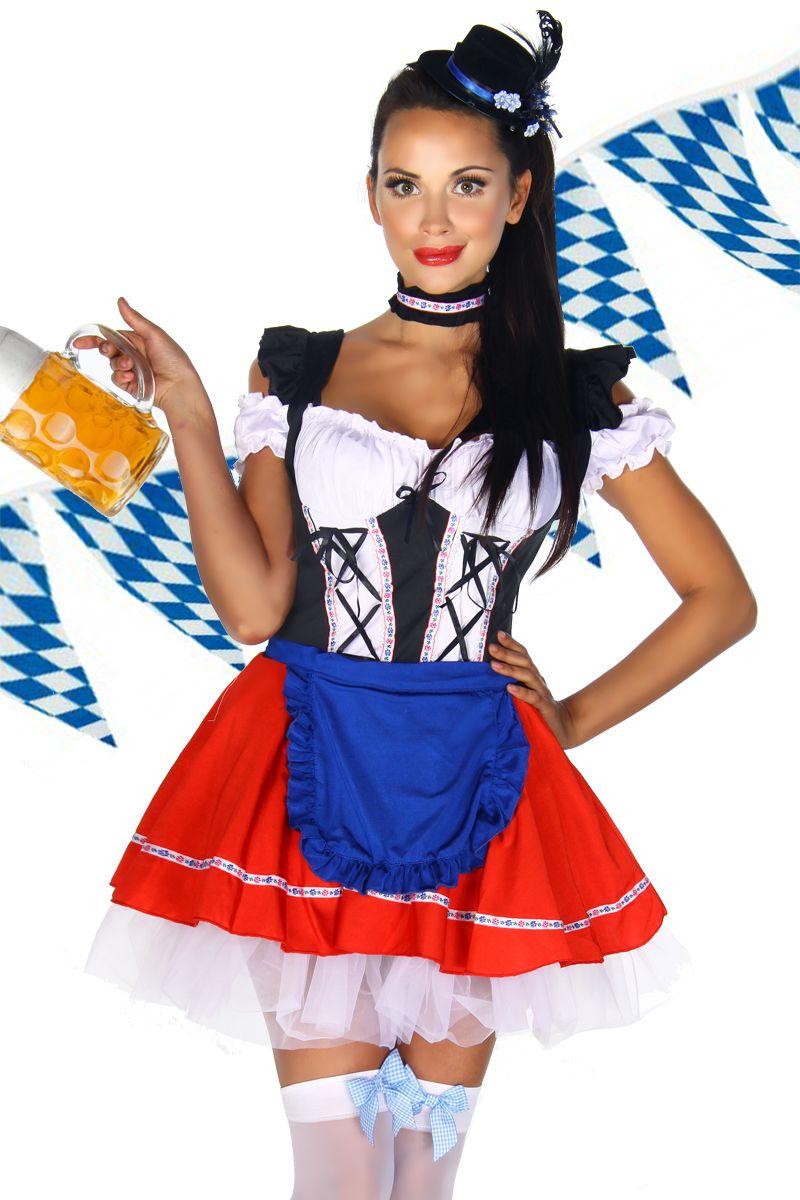 dirndl / traditional german beer-girl costume - #biertjedrinken by BiertjeDrinken.nl