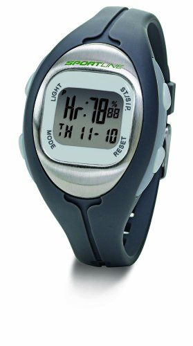 Sportline Womens Solo 915 Monitor Your Heart Rate to Accelerate Calorie Burn  Silver with Grey Strap * Check out this great product.(This is an Amazon affiliate link and I receive a commission for the sales)