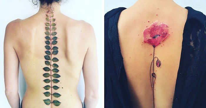 Crimean tattoo artist Pis Saro creates beautiful tattoos inspired by nature. Her style is somewhat peaceful and edgy at the same time, while the tattoos, which are created for both men and women, have so much detail and color that they could even be mistaken for real plants!