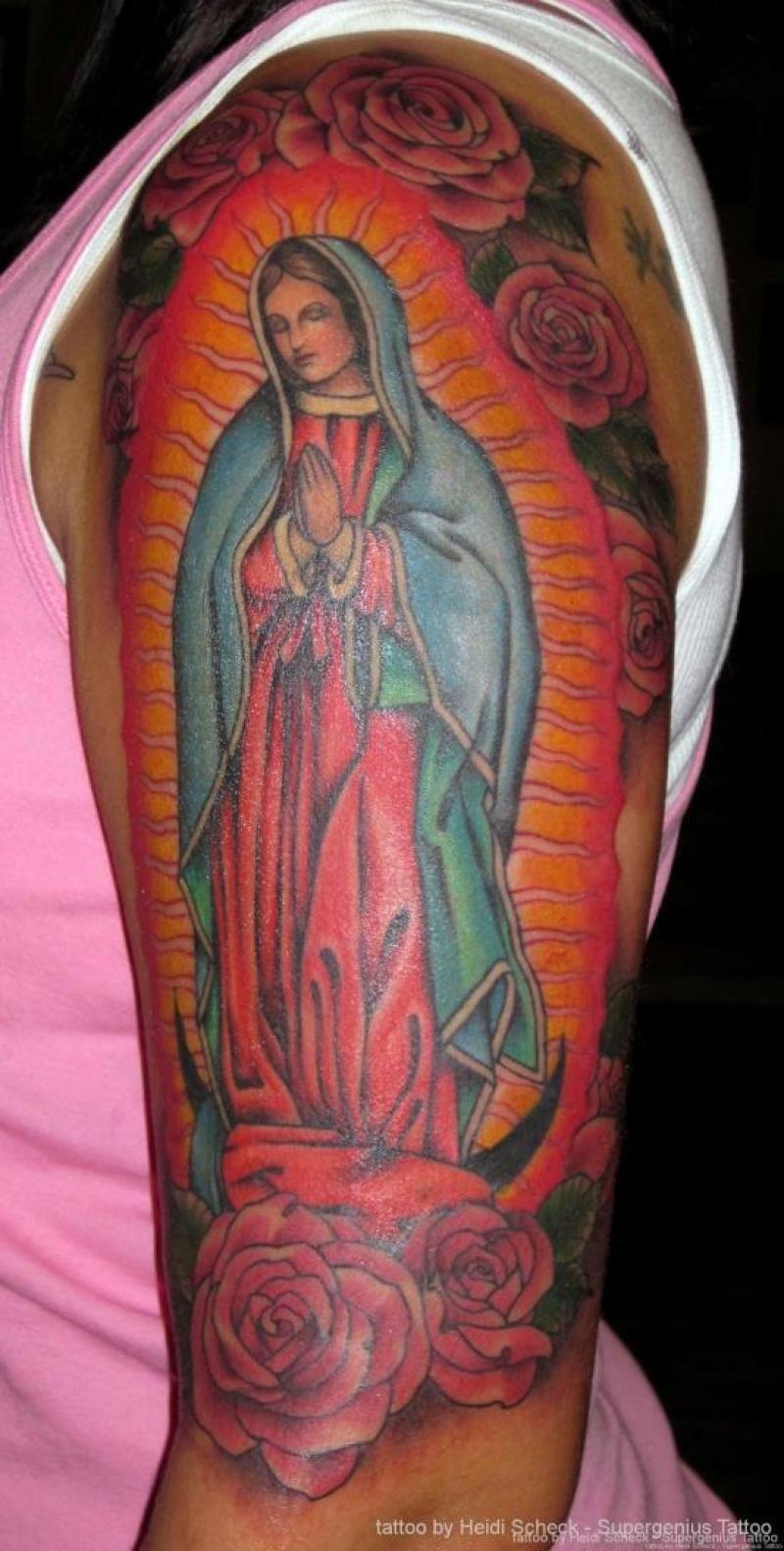 Lady Of Guadalupe Tattoo Tattoos Tattoos Mary Tattoo God Tattoos