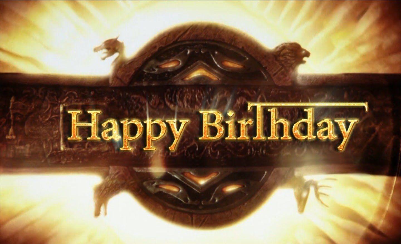 Открытка с днем рождения в стиле игра престолов