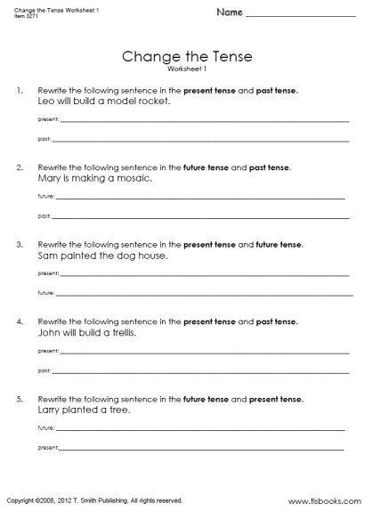 Pictures Verb Tense Consistency Worksheet - Studioxcess