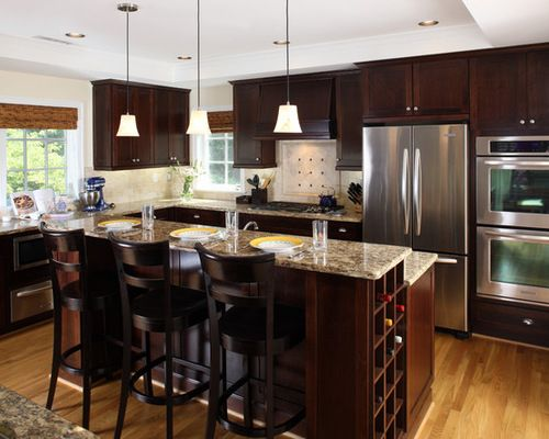 Kraftmaid Maple Cabinets In Cabernet And Slab   Google Search