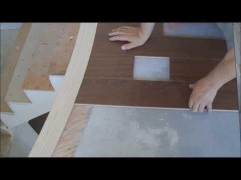 Installing Hardwood Floors Around Curved Stair Nosing Mryoucandoityourself    YouTube