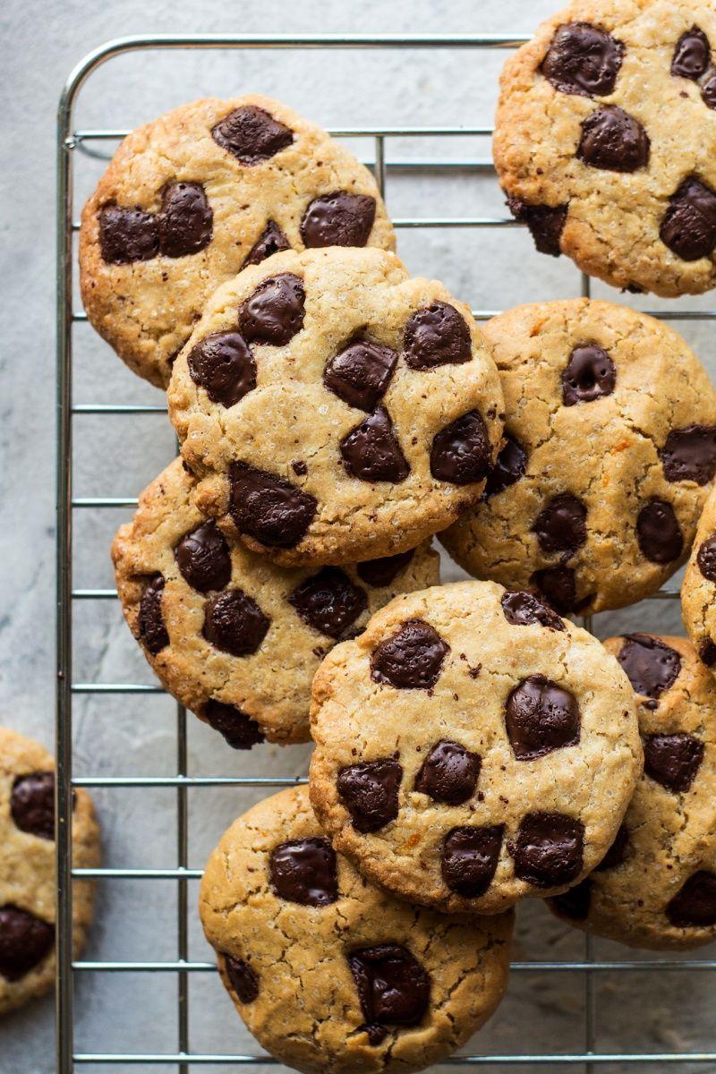 Vegan Cookies With Tahini Chocolate Orange And Cardamom