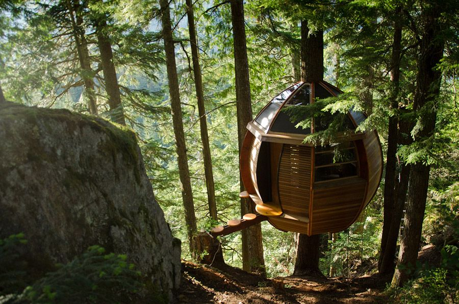 the hemloft wee spaces tree house designs treehouse cabins rh pinterest com